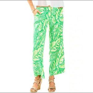 LILLY PULITZER Coca Loca Green Leaf Lela Capris